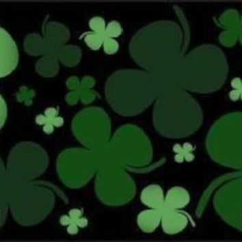 Four Leaf Clovers  Decorative Sign Tag St Patricks Day