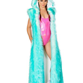 J-Valentine Aqua Tips Light-Up Hooded Duster
