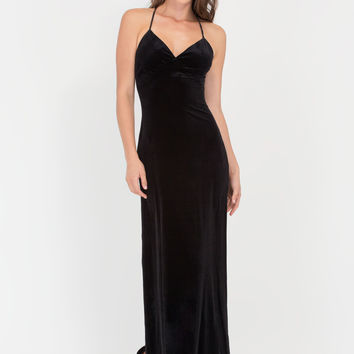 Spell On You Velvet Slit Maxi Dress