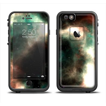 The Dark Green Glowing Universe Apple iPhone 6 LifeProof Fre Case Skin Set