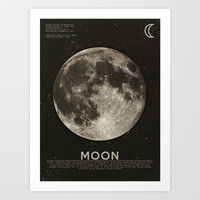 The Moon Art Print by Heather Landis