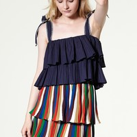 Heidi Tie-up Tiered Ruffle Top Discover the latest fashion trends online at storets.com