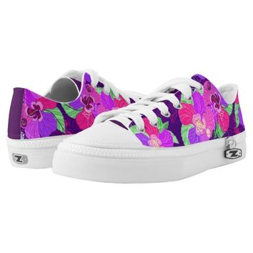Purple Hibiscus Shoes Printed Shoes