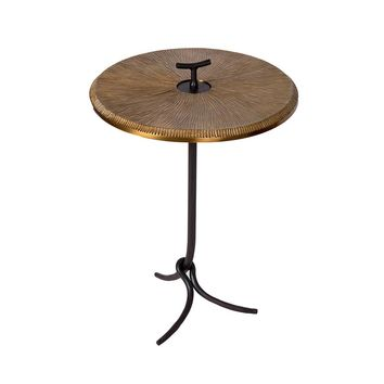 Gold Covered Table Iron Side Coffee