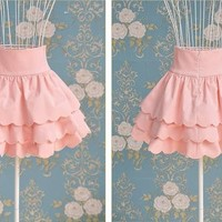 Ladies Style Pink Multilayer Petal Edges Empire Waist Mini Tutu Skirt