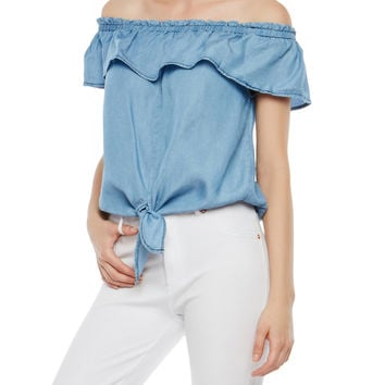 Tie Front Off the Shoulder Top