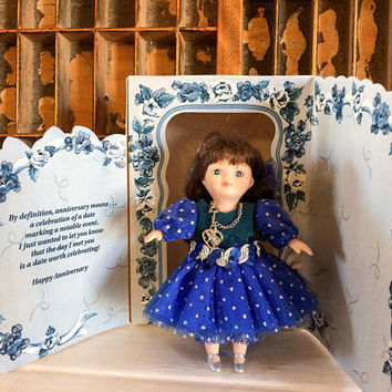 Anniversary Doll, Marie Osmond, Cherish Doll, Greeting Card Doll, Gift, Porcelain Doll, Miniature Doll, Anniversary Card, Marriage Card