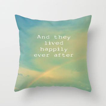 Happily Ever After Throw Pillow by ALLY COXON