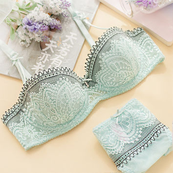 Lace Bra Set Sexy Ladies Lingerie [10086422403]