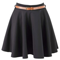Black Skater Skirt at Fashion Union