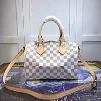 LV Louis Vuitton MEDIUM MONOGRAM LEATHER HANDBAG SHOULDER BAG