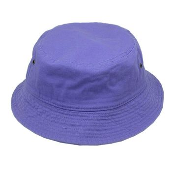 For Women's Men's Bucket Hat Cap Fishing Boonie Brim visor Sun Safari L-PURPLE