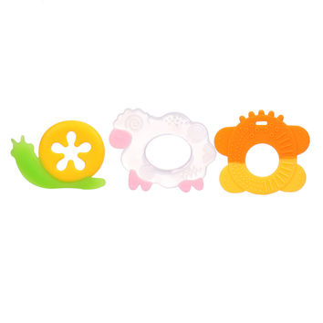 2017 New Safety Animal Shape Baby Teether Baby Teething Toys Food Grade Silicone Teether Baby Solid Tooth Baby Dental Care