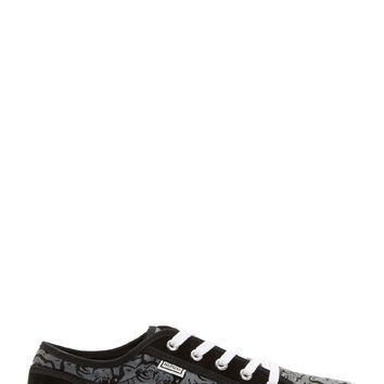 Kenzo Gray And Black Tiger Head Sneakers