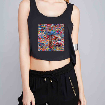 Marvel Thor Collage comic for Crop Tank Girls S, M, L, XL, XXL *07*