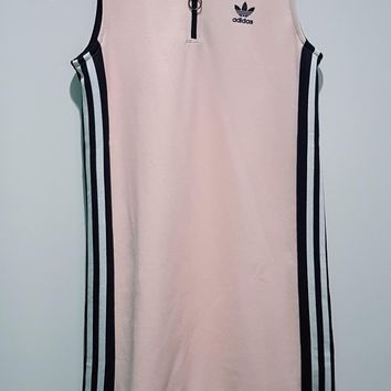 adidas Originals Osaka Sleeveless Polo Dress In Pale Pink