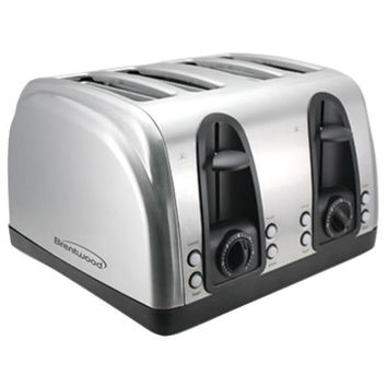 Brentwood Appliances TS-445S 4-Slice Elegant Toaster with Brushed Stainless Steel Finish