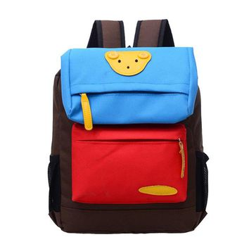 Boys bookbag trendy Home Storage Book Bag Kids Girls Boys Kindergarten Baby Girl Students Lovely Bear Canvas School Bags Casual Mini  Travel AT_51_3