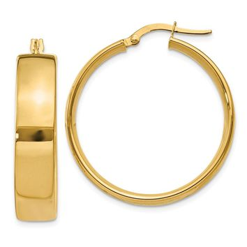 14k Gold 26 mm Hoop Earrings