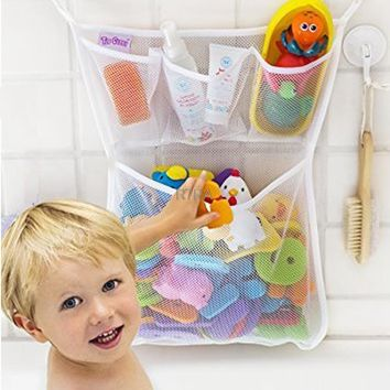 Baby Bathroom Mesh Bag Child Bath Toy Bag Net Suction Cup Baskets Bathtub Storage Bag Organizer Holder Stuff Tidy