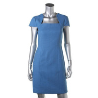 4 Collective Womens Knit Cap Sleeves Cocktail Dress