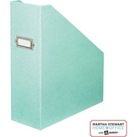 Martha Stewart Home Office? with Avery? Stack+Fit™ Shagreen Magazine File, Blue