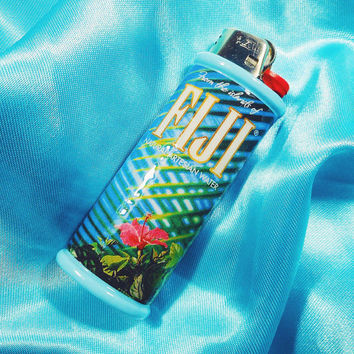 FIJI Water Aesthetic Bic Lighter Case