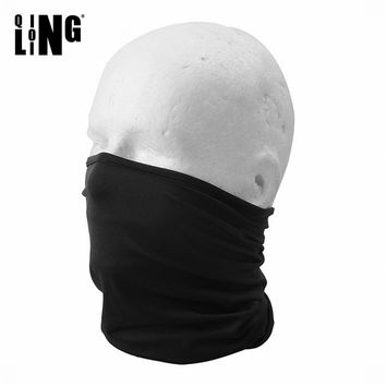 Black Sunscreen Breathable Half Face Mask Windproof Elastic Neck Hood Cover Cycling Riding Headscarf Outdoor Sports Bandana