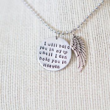 Hand Stamped In My Heart Until I Hold You in Heaven by StampBlanks