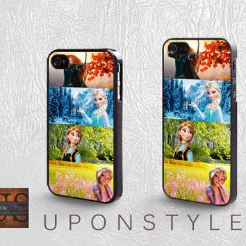 Disney princess, Phone Cases, iPhone 5 Case, iPhone 5s Case, iPhone 4 Case, iPhone 4s case, Case for iphone, Case No-1095