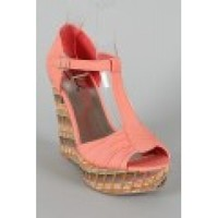 T-Strap Coral Wedge