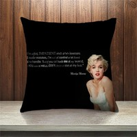 Comwarm Vintage Marilyn Monroe Pattern Throw Pillow Linen Couch Car Seat Cushion Bedding Living Room Home Decorations Art
