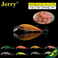 Jerry 5cm ultralight fishing lures micro minnow lure hard bait floating jerkbait crankbait trout bass lures finesse fishing