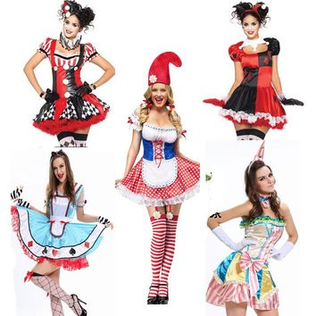 Halloween Costume For Women Adult Batman Harley Quinn Cosplay Costume Fantasia Sexy Lolita Dress
