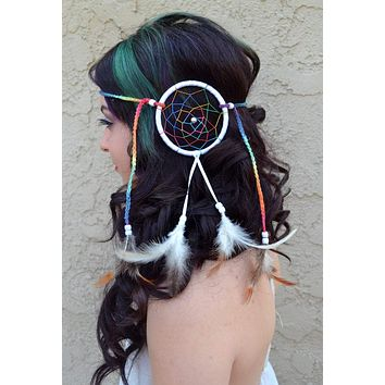Rainbow Dreamcatcher Headband #A1006