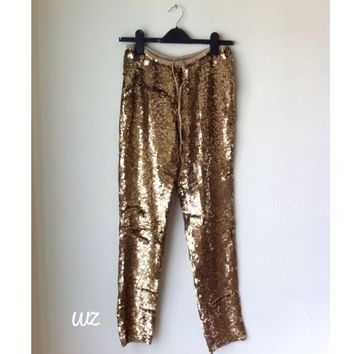 Calypso St Barth Gold sequin pants