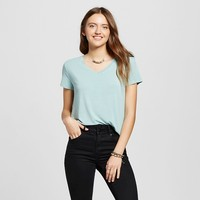 Women's Short Sleeve Softest V-Neck Tee Teal XL - Mossimo Supply Co.™