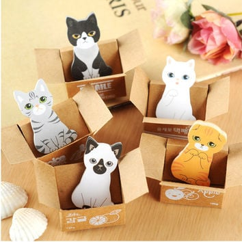 Cute Puppy House Kitty House Memo Pads Post it stickers Sticky Notes Writing Paper Notepad Kawaii Office Stationery