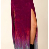 Blu Moon Two Slit Skirt