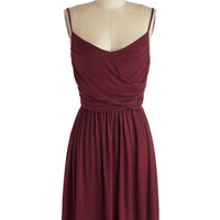 Well How Do You Do? Dress in Burgundy | Mod Retro Vintage Dresses | ModCloth.com