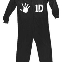 NEW ONE DIRECTION 1D HANDPRINT HARRY STYLES ADULT WOMENS FLEECE MENS Onesuit