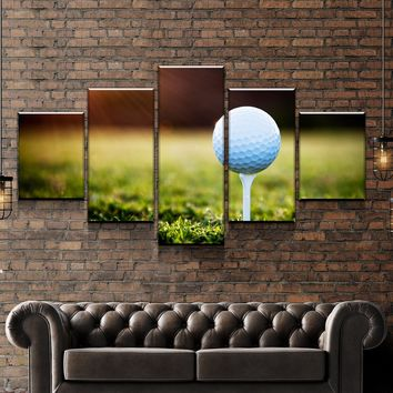Golf Sunset Canvas Set