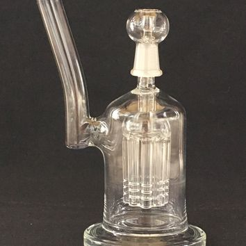 "8"" MALE JOINT GLASS WATER PIPE WITH 8 ARM TREE PERC - SGCU#50"