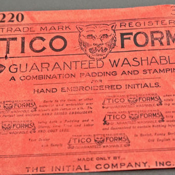 Antique Advertisement Paper Ad Tico Forms Embroidery