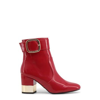 Laura Biagiotti Red Round Toe Ankle Boots