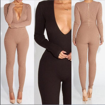 Knitting women jumpsuits jumpsuit