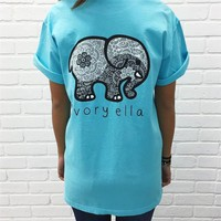 Fashion Sky Blue Short Sleeve T Shirt for Women