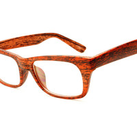 Reading Optical Style Clear Lens Dark Wood Print Eye Glasses T273 – FREYRS - Sunglasses at Affordable Prices