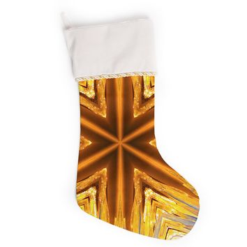 """Philip Brown """"Gold Star Icicles"""" Gold Blue Christmas Stocking"""