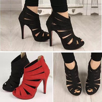 Women's Shoes High Heels Party Red Bottom Woman Sandals Gladiator Black Platform Pumps Wedding Sapato Feminino FEIXI